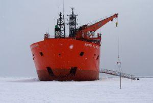 image: Australia Maritime Union Aurora Australis Antarctic Icebreaker retires