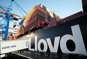 image: Germany Kuehne + Nagel Hapag-Lloyd AG container shipping line UASC logistics freight forwarder