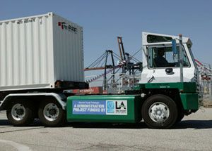 image: Los Angeles US Supreme Court trucking road haulage freight container shipping pollution emissions California