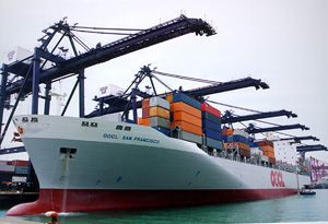 image: TEU Hong Kong container shipping freight and logistics