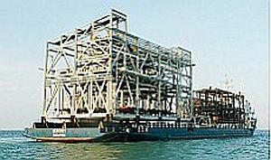 image: Ezion Australia freight logistics Gorgon haulage project LNG