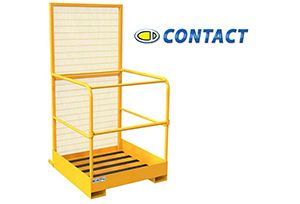 image: UK Contact Attachments Fork Lift Truck Cage warehouse staff pallet Health and Safety