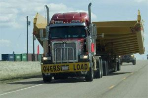image: US truck safety logistics trucking parking shipping