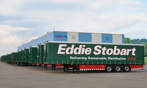 image: UK rail freight curtainside refrigerated trailer haulage