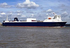 image: P&O Sweden Spain UK RoRo freight ferry break bulk container trailer