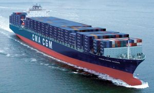 image: Africa container freight shipping port TEU vessel
