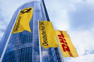 image: DHL Deutsche Post freight forwarding bulk container shipping express mail parcels