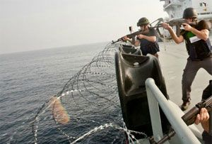 image: Somalia pirates merchant vessels armed guards private maritime security