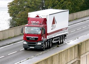 image: Ceva UK freight forwarding logistics supply chain road haulage trailers telematics