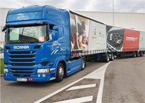 image: Spain mega truck road haulage freight SEAT Barcelona metre gross mass
