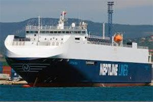 image: Greek UAE Middle East shipping RoRo Neptune Lines Pure Car and Truck Carrier (PCTC) vessels