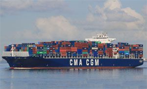image: France sea freight container shipping TEU