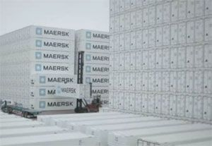 image: Maersk container shipping reefer box video carrier