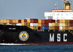 image: Maersk MSC box freight container shipping line cargo 2M P3 Alliance US Federal Maritime Commission