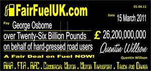 image: UK freight haulage fuel price FairFuel foreign commercial vehicles truckers