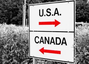 image: US Canada truck LTL logistics import freight cargo