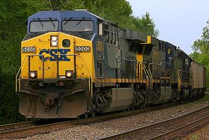 image: CSX road haulage rail freight cargo carriage intermodal services US