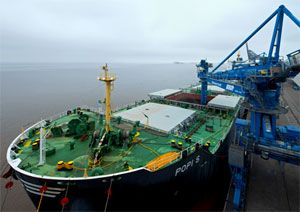 image: UK Panamax sustainable fuel renewable wood pellets biomass cargo freight tonnes intermodal