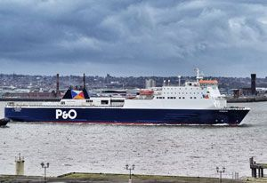 image: UK Ireland P&O ferries freight accompanied trailers tachometer Liverpool Dublin