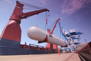 image: LPG Kuwait Malaysia Rickmers project freight forwarding heavy lift shipping tonne