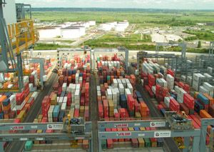 image: DP World London Gateway Deep Water Container Port Logistics Park UK Lidl Distribution Centre