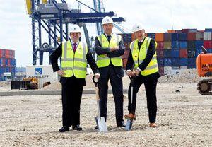 image: UK NFT chilled food port Tilbury logistics Pentalver container handler temperature controlled import cargo