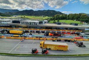 image: Germany, Formula 1, DHL. Logistics, tonnes, race,