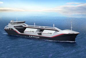 image: Australia Japan hydrogen merchant ship vessel LNG