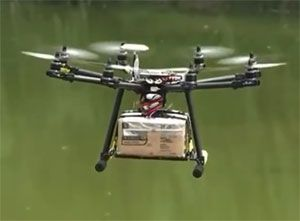 image: US Drone air freight testing delivery pilots FAA