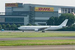 image: Germany air freight Airbus DHL logistics express A330-300 Asia Pacific