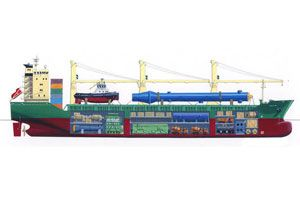 image: Germany container vessel breakbulk heavy lift project safety environment Rickmers