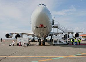 image: Cargolux freight only airline 747-8F Brazil cargo aircraft