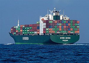 image: Evergreen container freight shipping line Asia