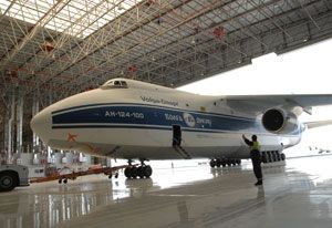 image: UAE Antonov Ruslan An 124 air freight maintenance Volga Dnepr