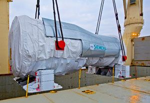 image: Germany Heavy Lift Project Freight Forwarding Cargo Siemens Bertling Turkey