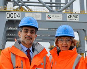 image: London Gateway Lord Mayor of the City of London, Fiona Woolf container shipping logistics DP World