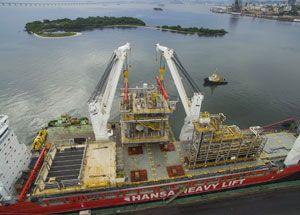 image: Hansa Heavy Lift China freight project cargo Brazil FPSO p-67 pre salt clusters specialist logistics Valparaiso
