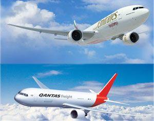 image: Australia EUA Emirates Qantas cargo air freight