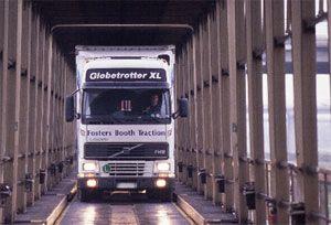 image: Eurotunnel ferries truck lorries freight