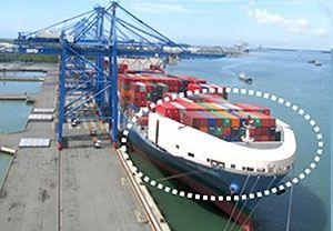 image: Japan MOL container shipping vessel windshield environmental green wind resistance decks fuel