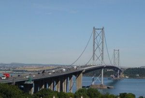 image: Forth Bridge UK Scotland road haulage freight transport drivers