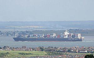 image: US Navy Maersk Denmark biofuel algae container ocean shipping