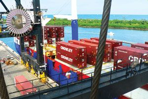 image: US Costa Rica perishables Crowley Maritime container freight vessels logistics