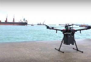 image: Singapore GAC logistics F-Drone vessel maritime Hafnia Schulte Crystalgate EFS supply shipping tanker