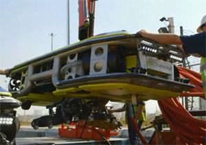 image: UAE Sweden Remotely Operated Vehicle ROV logistics marine services diver