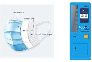image: UK, facemasks, PopOn, Type IIR, importers, 3 ply, vending, machines,