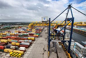 image: UK UAE DSV Forth ports DP World logistics freight forwarding shipping