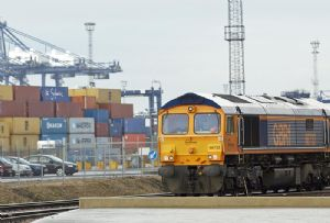 image: UK Rail freight group trains cargo carriers