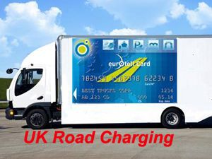 image: UK Eurovignette toll foreign truck road haulage vehicles