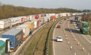 image: UK haulage road freight truck transport
